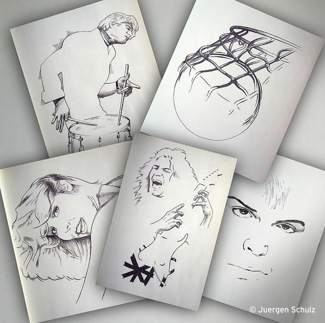 Juergen Schulz hand drawn illustrations