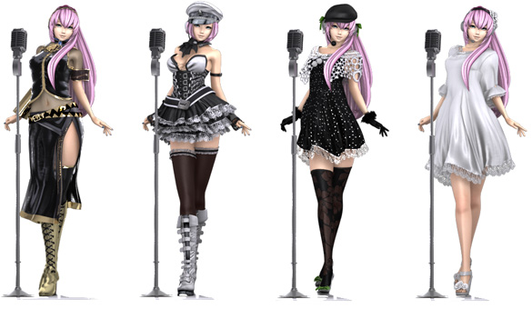 Six Megurine Luka 3D Clothing Outfits