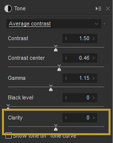 Clarity Parameter in the Tone Panel