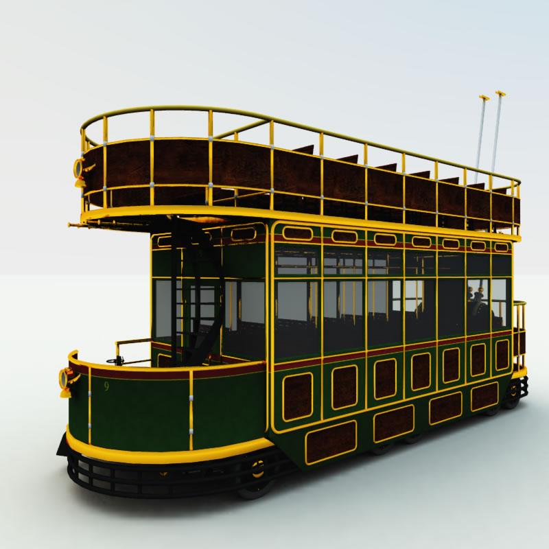 Clockwork Steampunk Trolley Bus