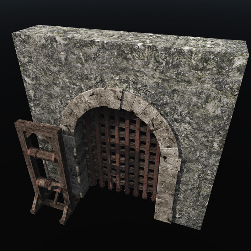 Dungeon Halls Walls And Doors 3d Rpg Style Models