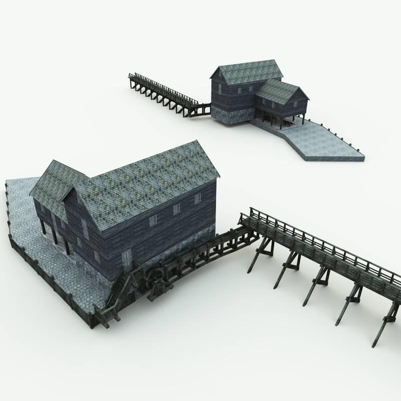 Philipsburg Ny: Philipsburg Grist Mill 3D Model