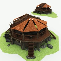 Orc Village Woodcutter 3D Building