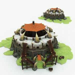 Orc Village Inn 3D Building
