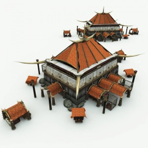 Orc Village Market 3D Building