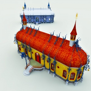 North Pole Teddy Bear Factory 3D Model