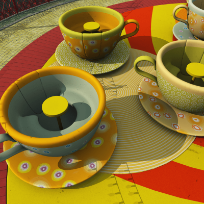 Amusement Park Tea Cups Ride