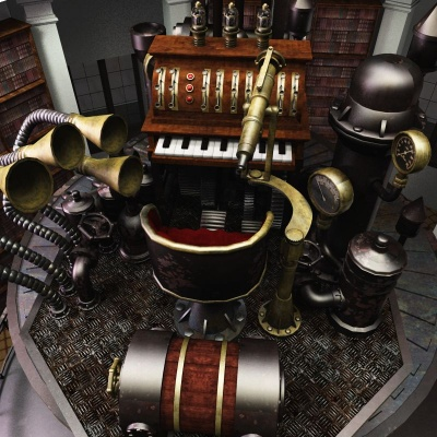 Steampunk Bookstore and Genius Lair