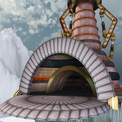 Zeppelin Station, North Pole Steampunk