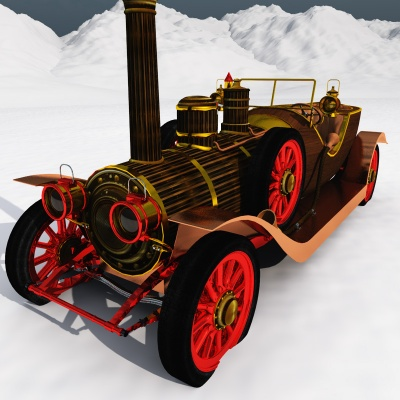 Steampunk Christmas Car