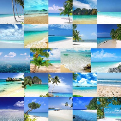 Tropical Beaches Backgrounds Volume 1