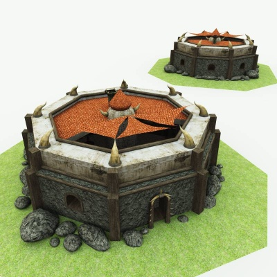 Orc Village Blacksmith 3D Building