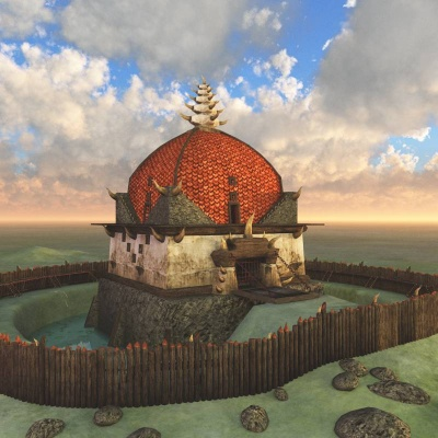 Orc Village Guardhouse 3D Building
